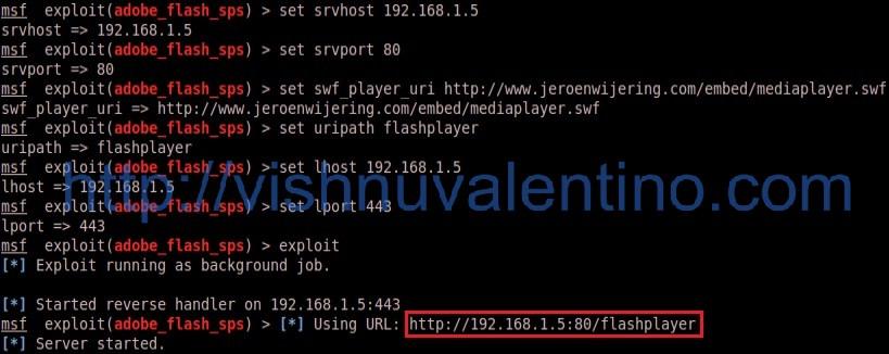 Hacking Tutorial Windows XP SP3 using Adobe Flash Player MP4 Vulnerability