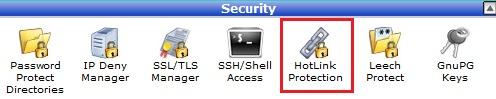 HotLink protection menu