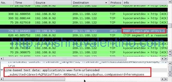 Wireshark Capture HTTP data
