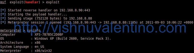 6 Step Hacking Windows XP SP 3 via DVD X Player 5.5 .plf Playlist Buffer Overflow