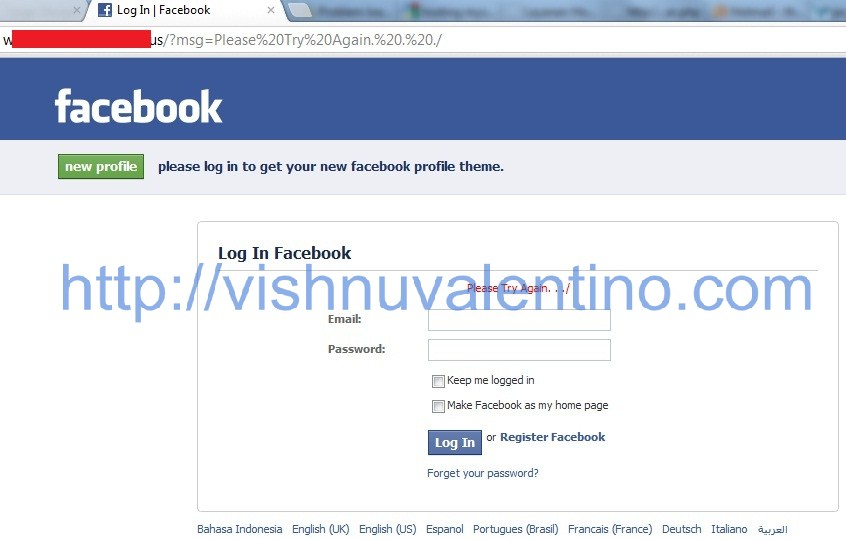Hacking Facebook User with Social Engineering Method