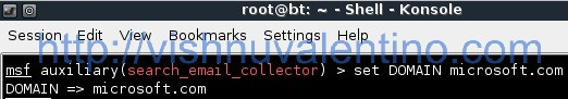How To Get Email Address From Search Engine Using Metasploit