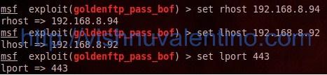 Hacking Windows via Golden FTP Server Pass Stack Buffer Overflow