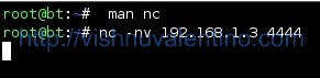 NetCat to Port 4444 nothing happened