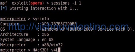 Hacking Windows via Opera 10/11 Memory Corruption