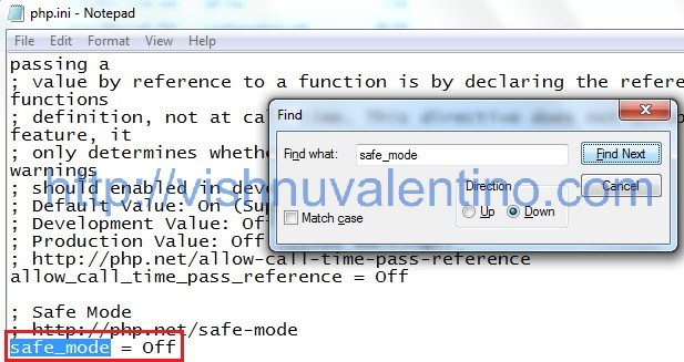 How to Turn ON PHP safe_mode on Windows XAMPP