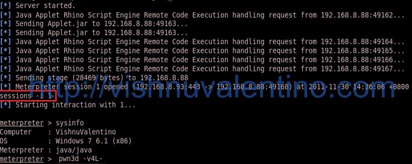 Hacking Windows 7 SP1 via Java Rhino Script Engine Vulnerability