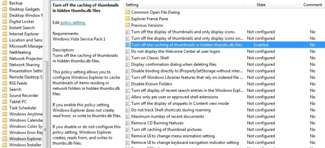 How to turn off thumbs.db in Windows?