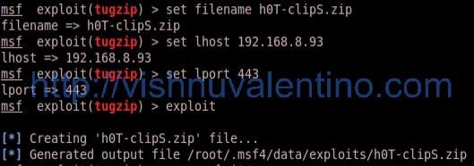 Hacking Windows 7 Ultimate via TugZip 3.5 Buffer Overflow Vulnerability(Zeroday)