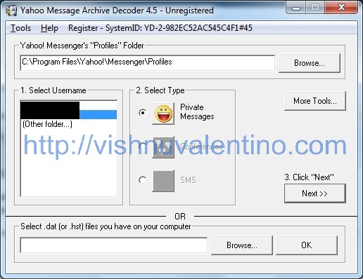 Yahoo Messenger Archive Decoder