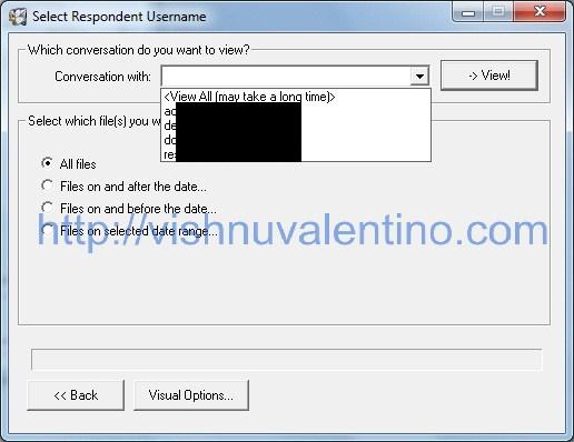 Yahoo Messenger Archive Decoder choose Conversation