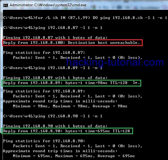 Basic Command Prompt For Looping To Find Live Ip Address Ethical Hacking Tutorials Tips And Tricks For example, your firewall might notify you about a denied connection from an ip address that you've never heard of and you want to figure out if it's truly. ethical hacking tutorials tips and tricks