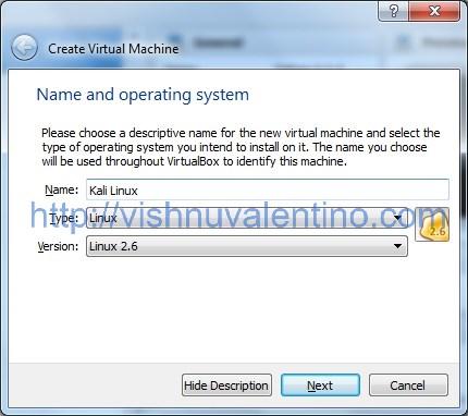 How to Create Kali Linux Virtual Machine in Virtual Box