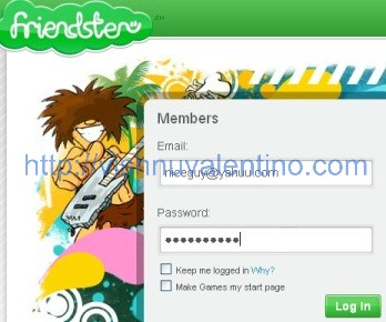 friendster login page