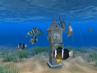 Aquarium Clock 3D Screensaver