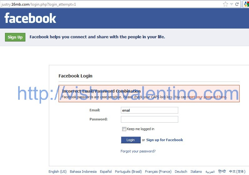 Tutorial Hacking Facebook using Phishing Method, Fake
