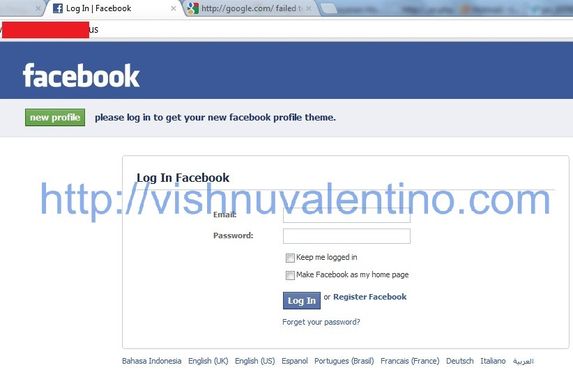 Hacking Facebook User with Social Engineering Method