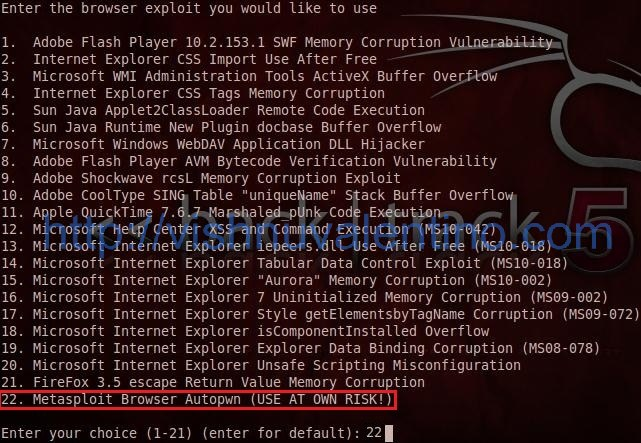 15 Steps to Hacking Windows Using Social Engineering Toolkit and Backtrack 5