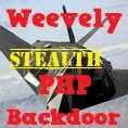 PHP Web Shell and Stealth Backdoor : Weevely